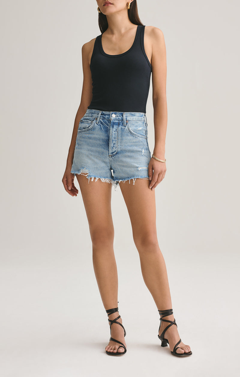 Jaden High Rise Cut Off Short Surreal front