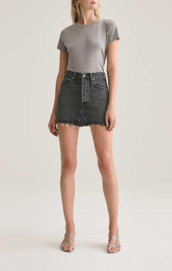 Quinn High Rise Mini Skirt in Jinx