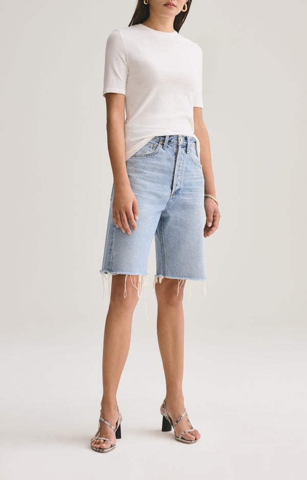 90's Mid Rise Loose Short in Riptide