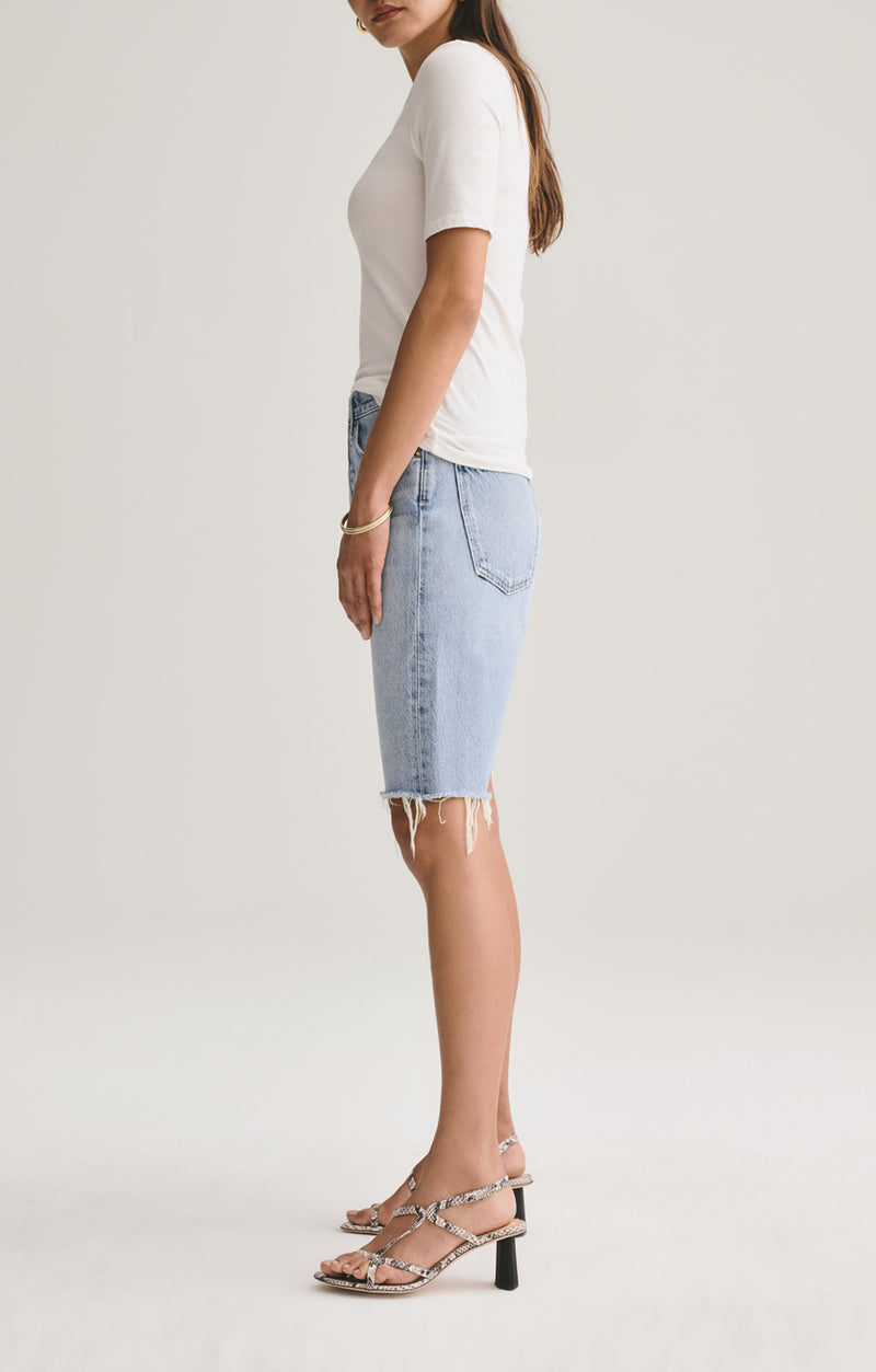 90's mid rise loose short riptide side