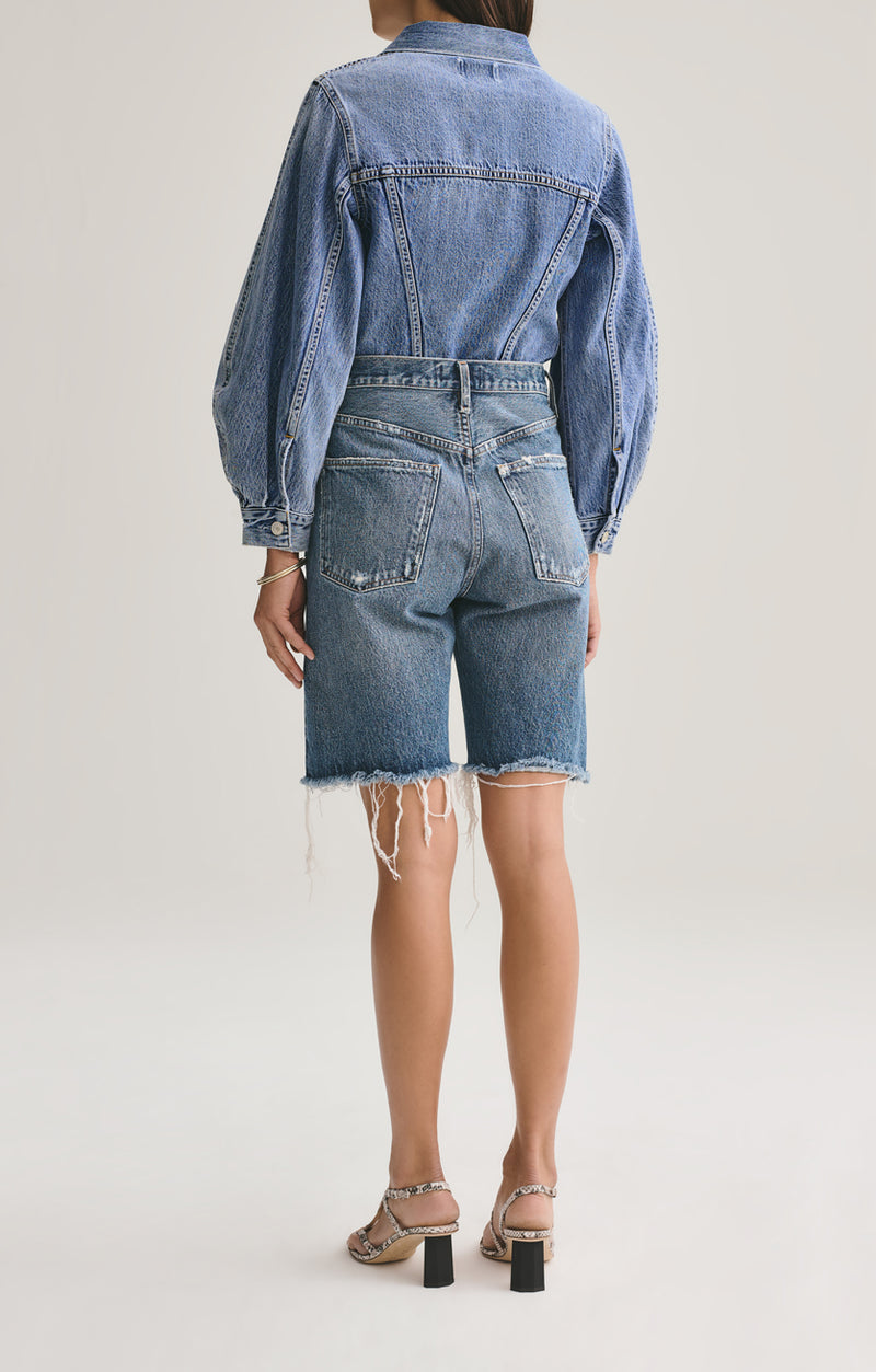 90's Mid Rise Loose Short in Precision