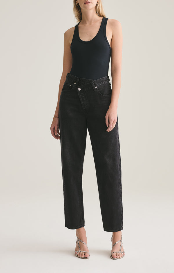 Criss Cross Upsized Jean in Savage