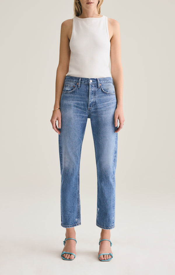 parker easy straight fit jean evade front