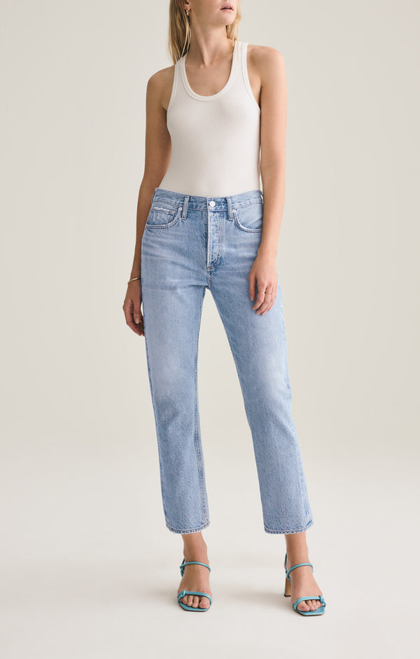 parker easy straight fit jean blur front