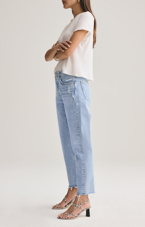Parker Easy Straight Fit Jean w/ Cut Off Hem in Swapmeet
