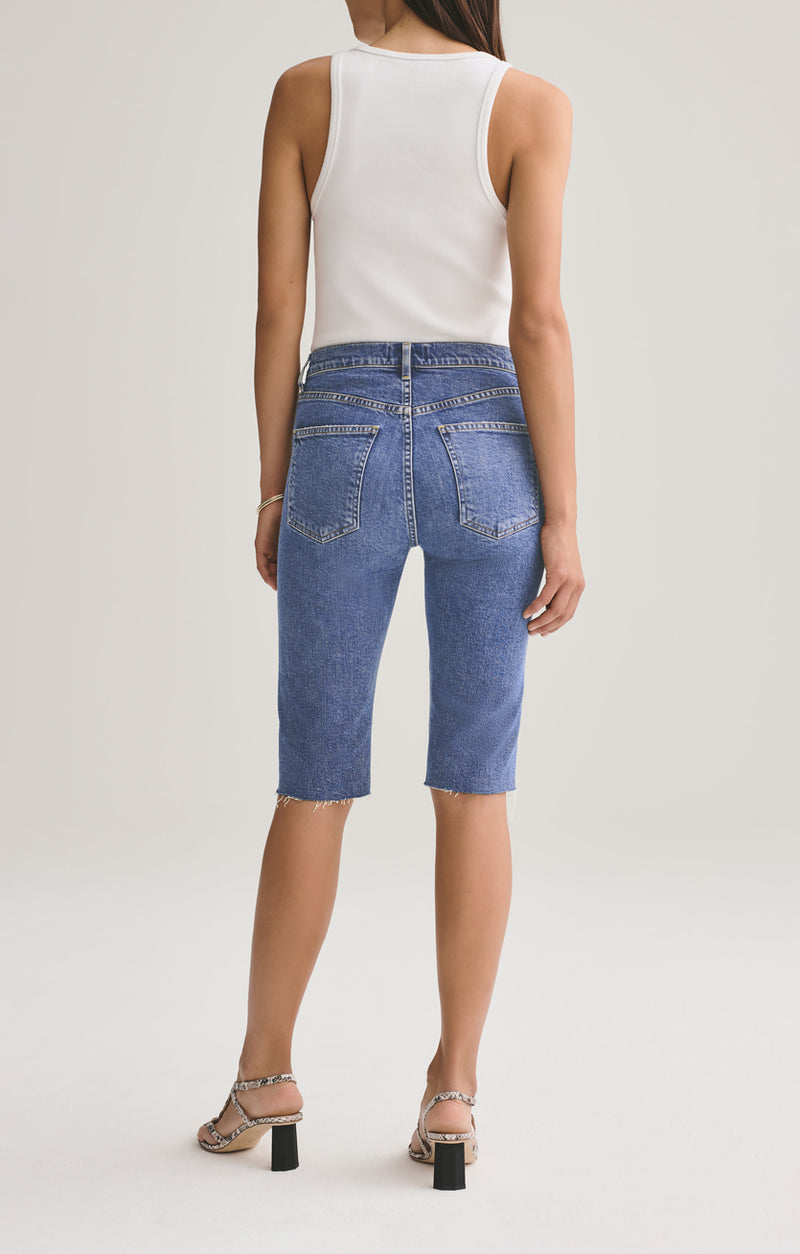 Carrie Long Length Slim Short in Subdued