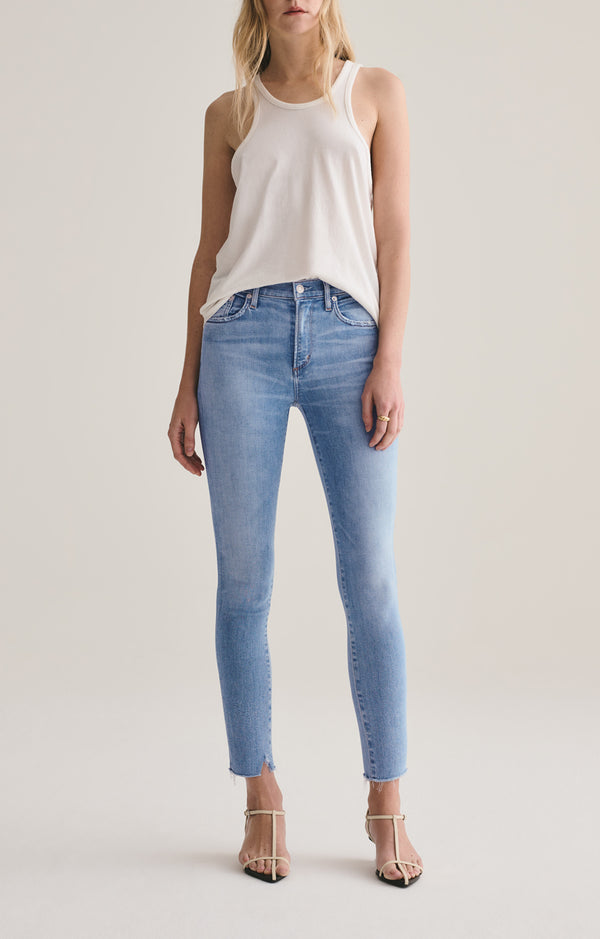 Sophie Mid Rise Skinny Ankle Facet front