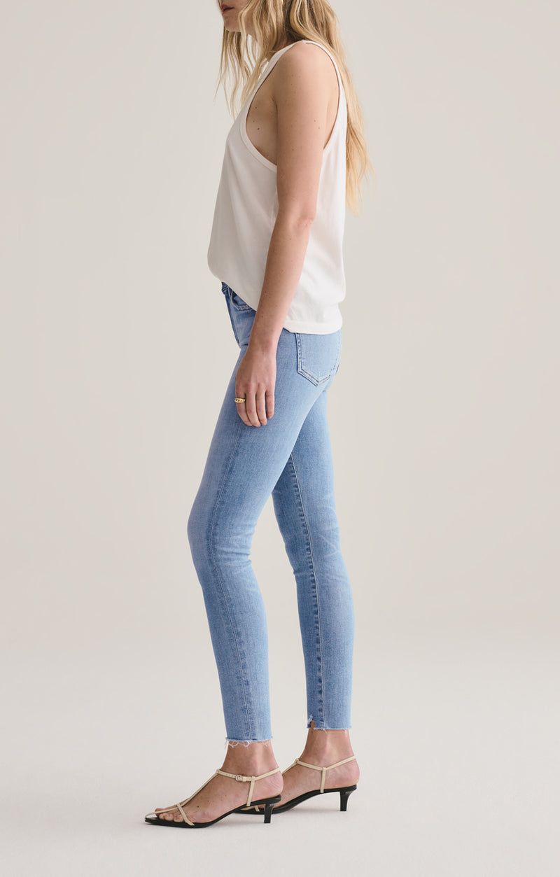 Sophie Mid Rise Skinny Ankle in Facet