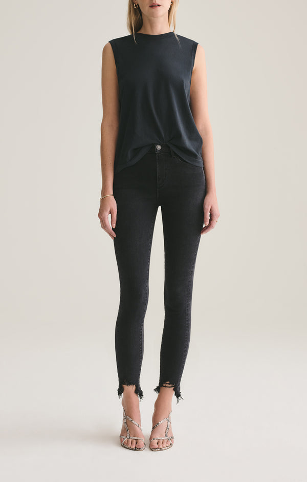 Sophie Mid Rise Skinny Ankle Shout front