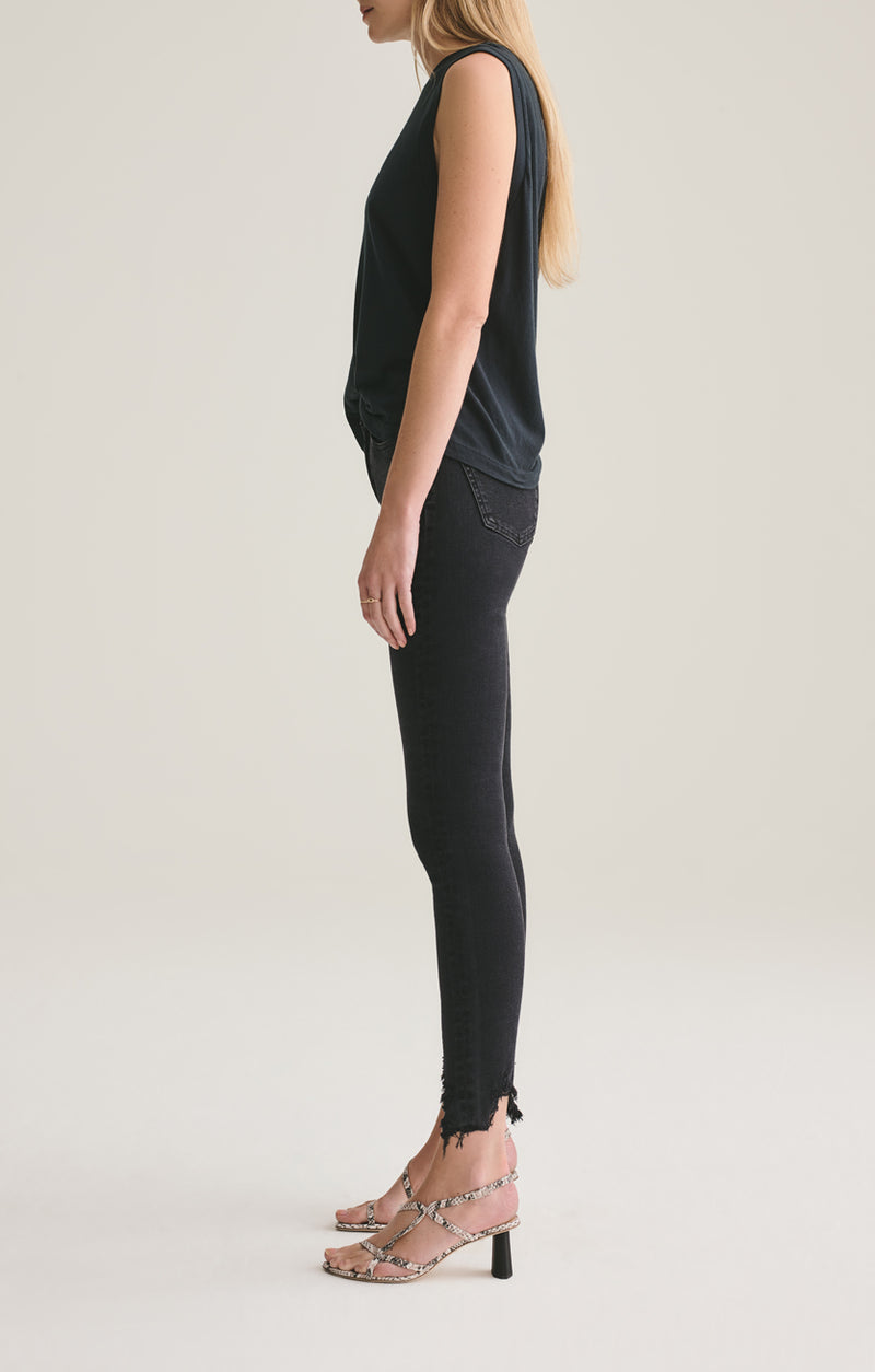 Sophie Mid Rise Skinny Ankle in Shout