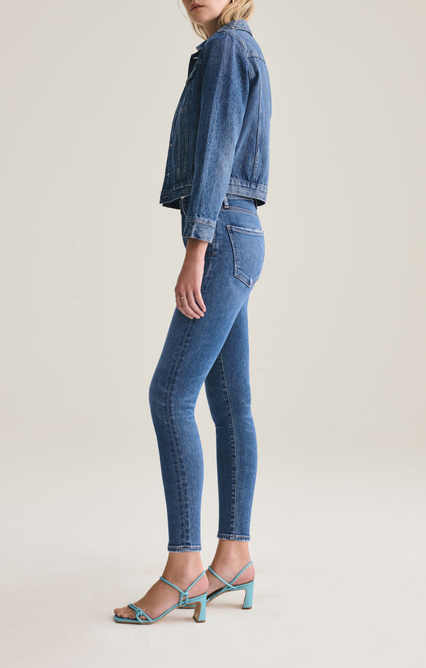 Sophie Mid Rise Skinny Ankle in Tame