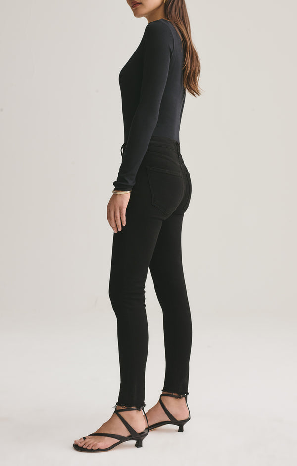 Sophie Mid Rise Skinny Ankle in Treble