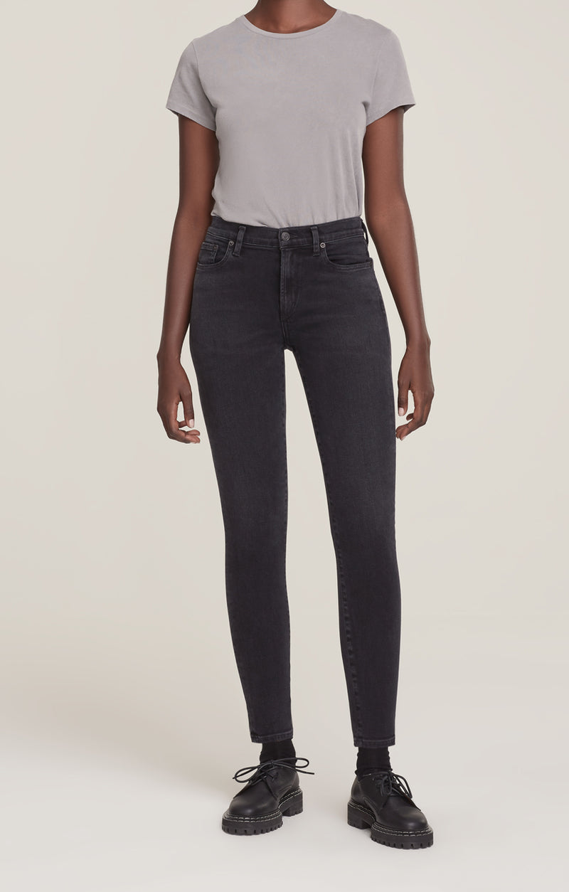 Sophie Mid Rise Skinny Ankle Dark Room front