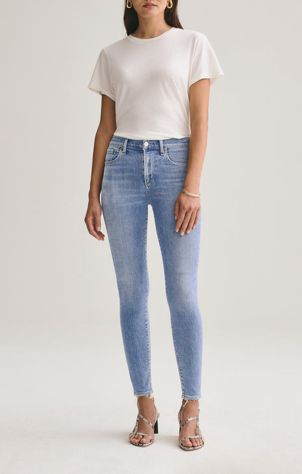 Sophie Mid Rise Skinny Ankle Saltwater front