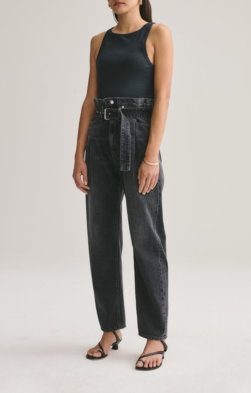 Reworked 90's High Rise Straight Jean in Pave