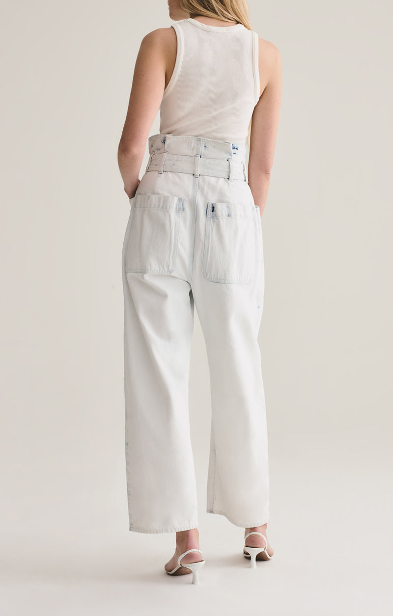 aden paperbag utility pant oceania front back
