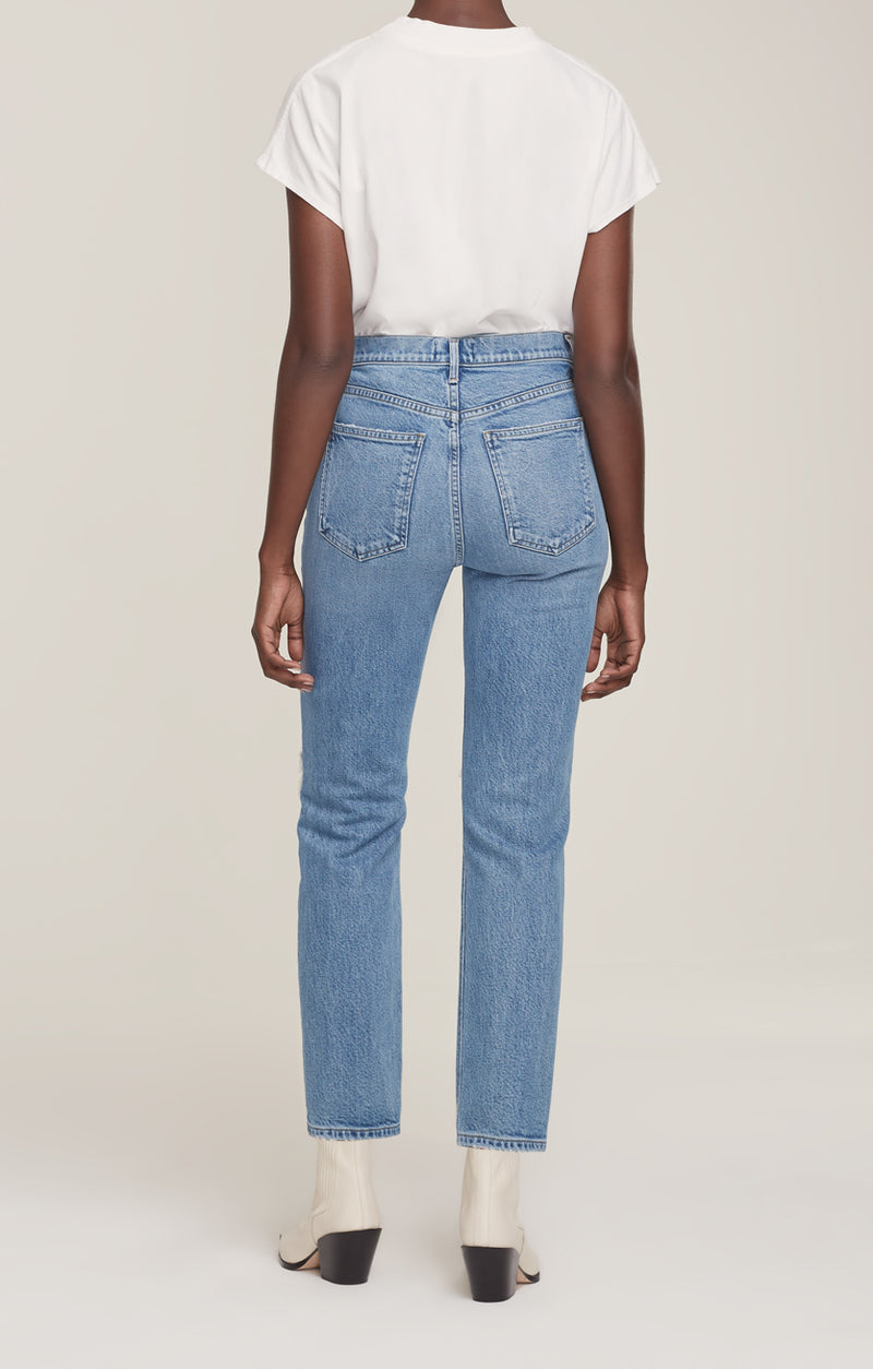 Wilder Jean Mid Rise Comfort Straight Whiplash back
