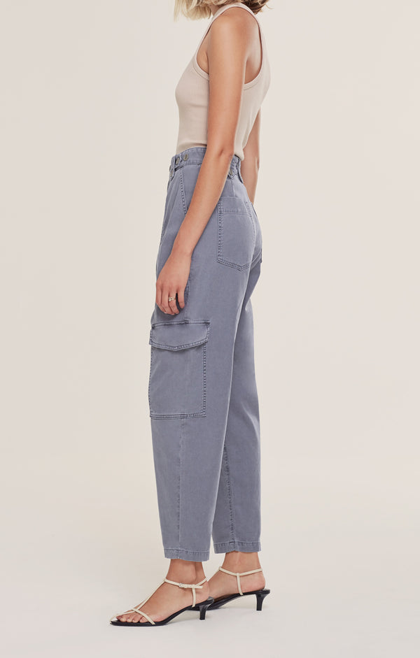 Mila High Rise Utility Tapered Pant  Anchovy