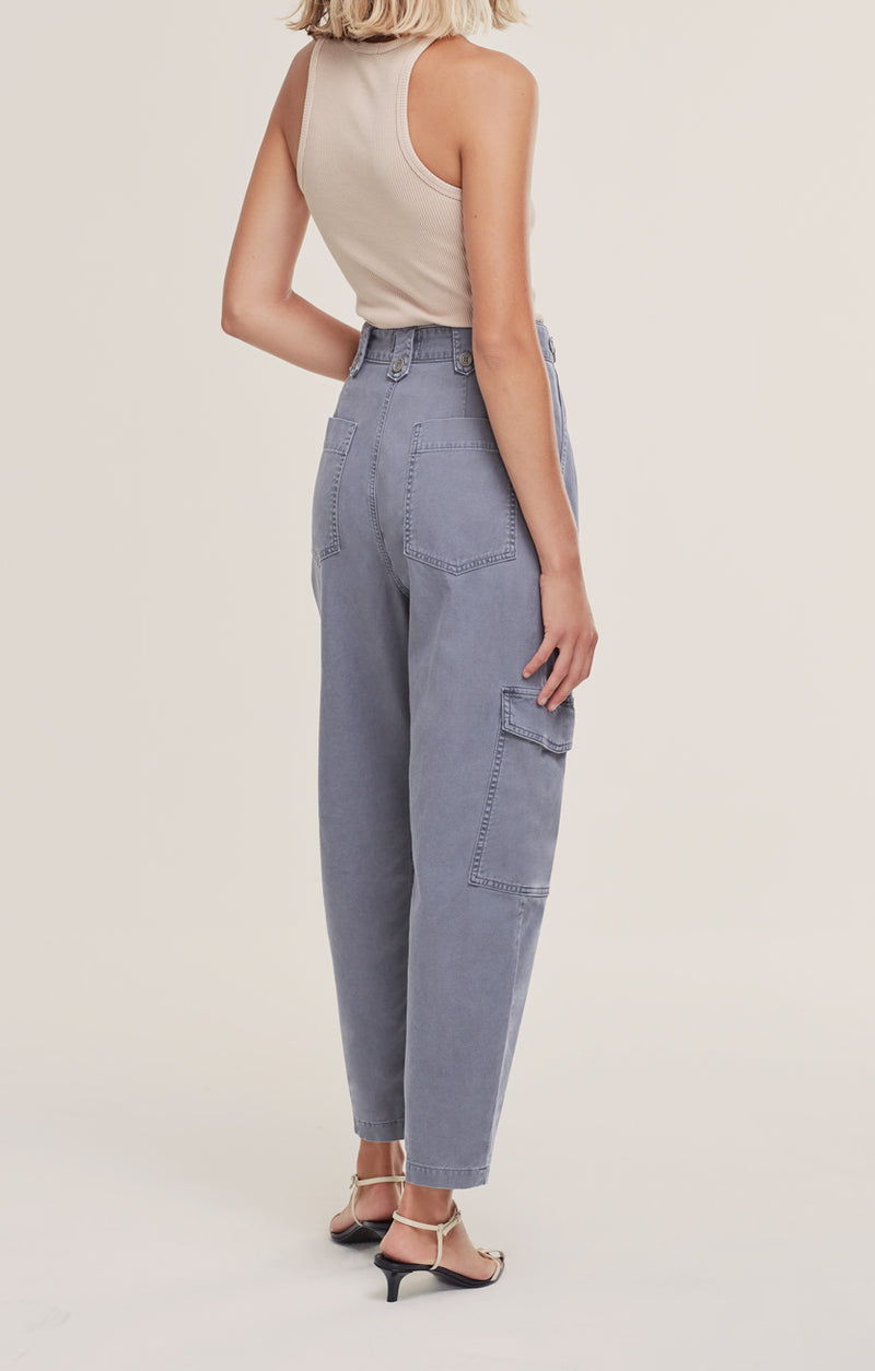 Mila High Rise Utility Tapered Pant Anchovy back