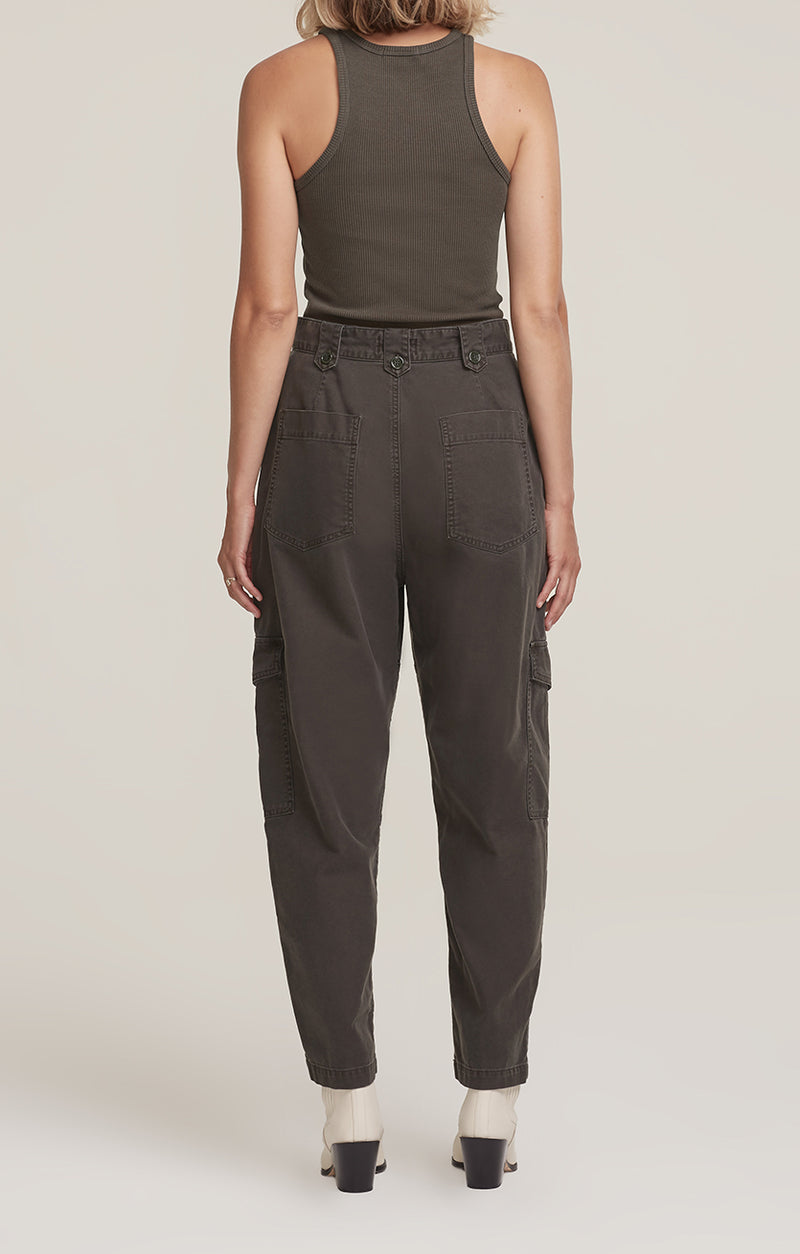 Mila High Rise Utility Tapered Pant Foliage back