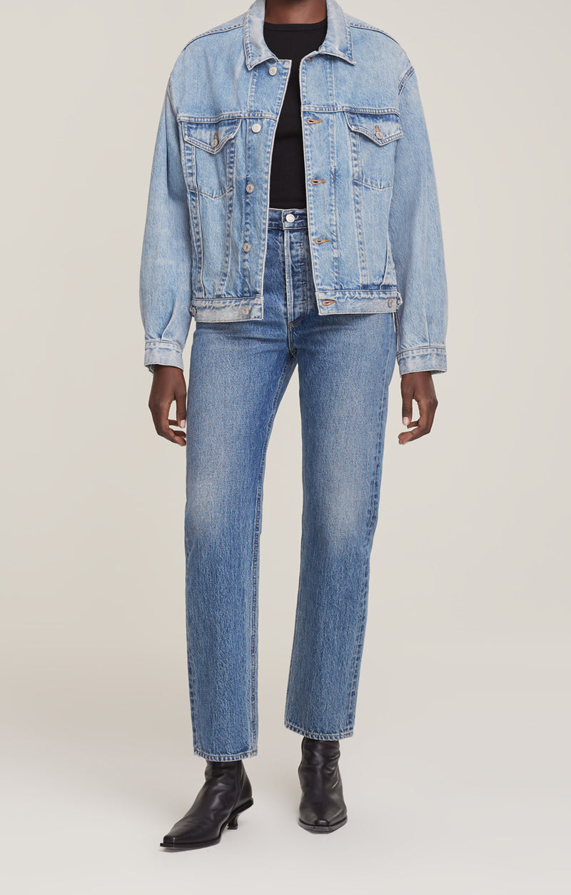 charli oversized denim jacket billboard front
