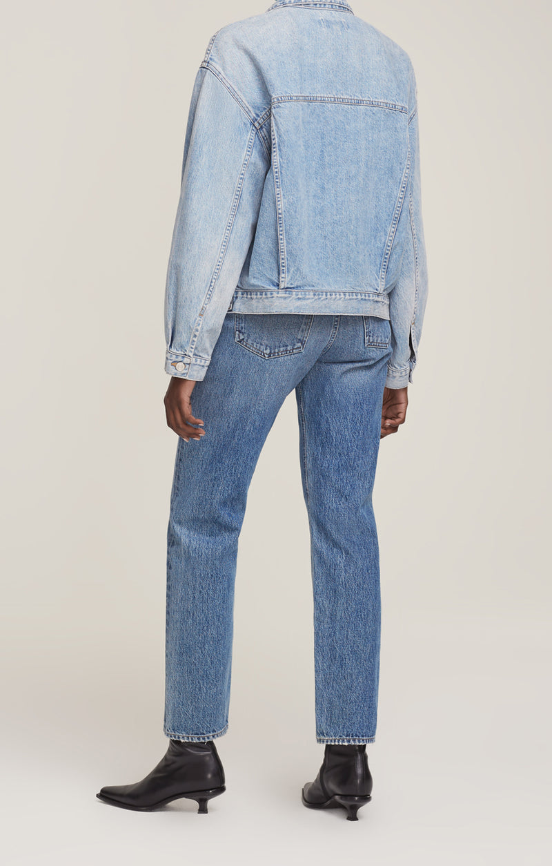 charli oversized denim jacket billboard back
