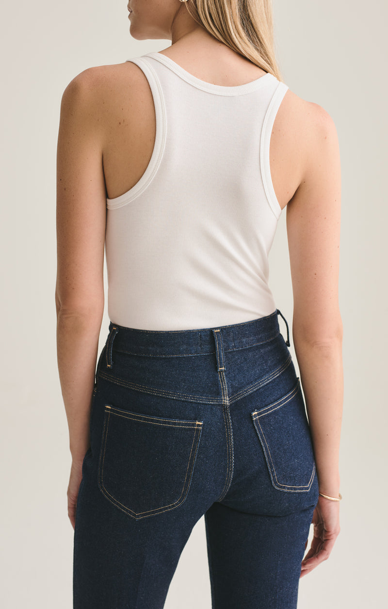 rib tank body suit white back