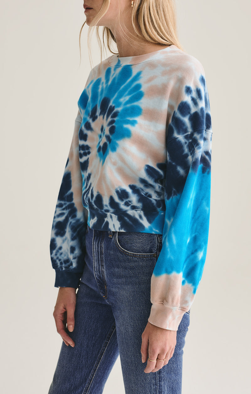 Balloon Sleeve Sweatshirt in Rewind