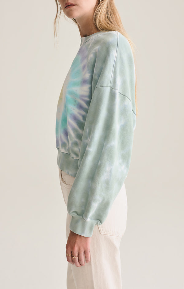Balloon Sleeve Sweatshirt in Spun