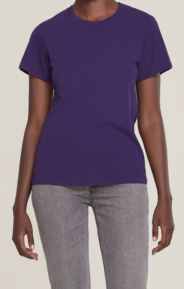 Mariam Classic Fit Tee Grape front