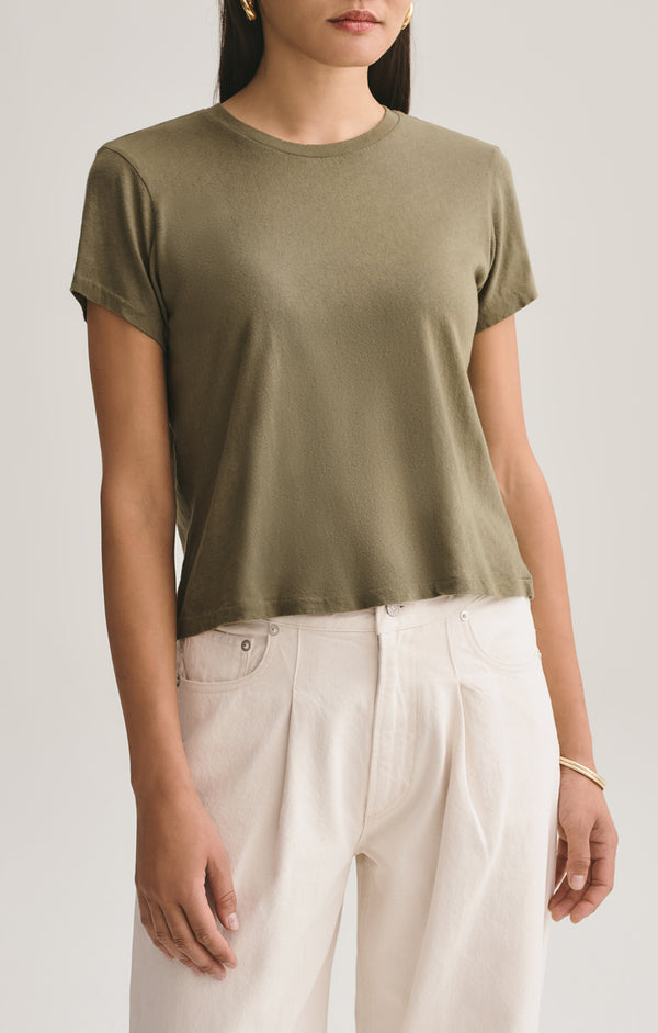 linda boxy tee succulent front