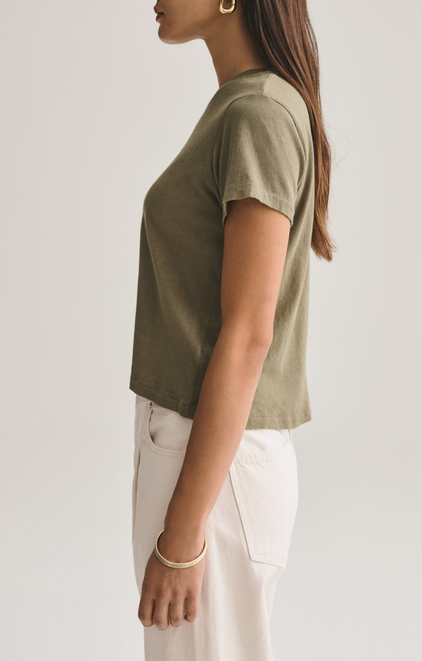 Linda Boxy Tee in Succulent