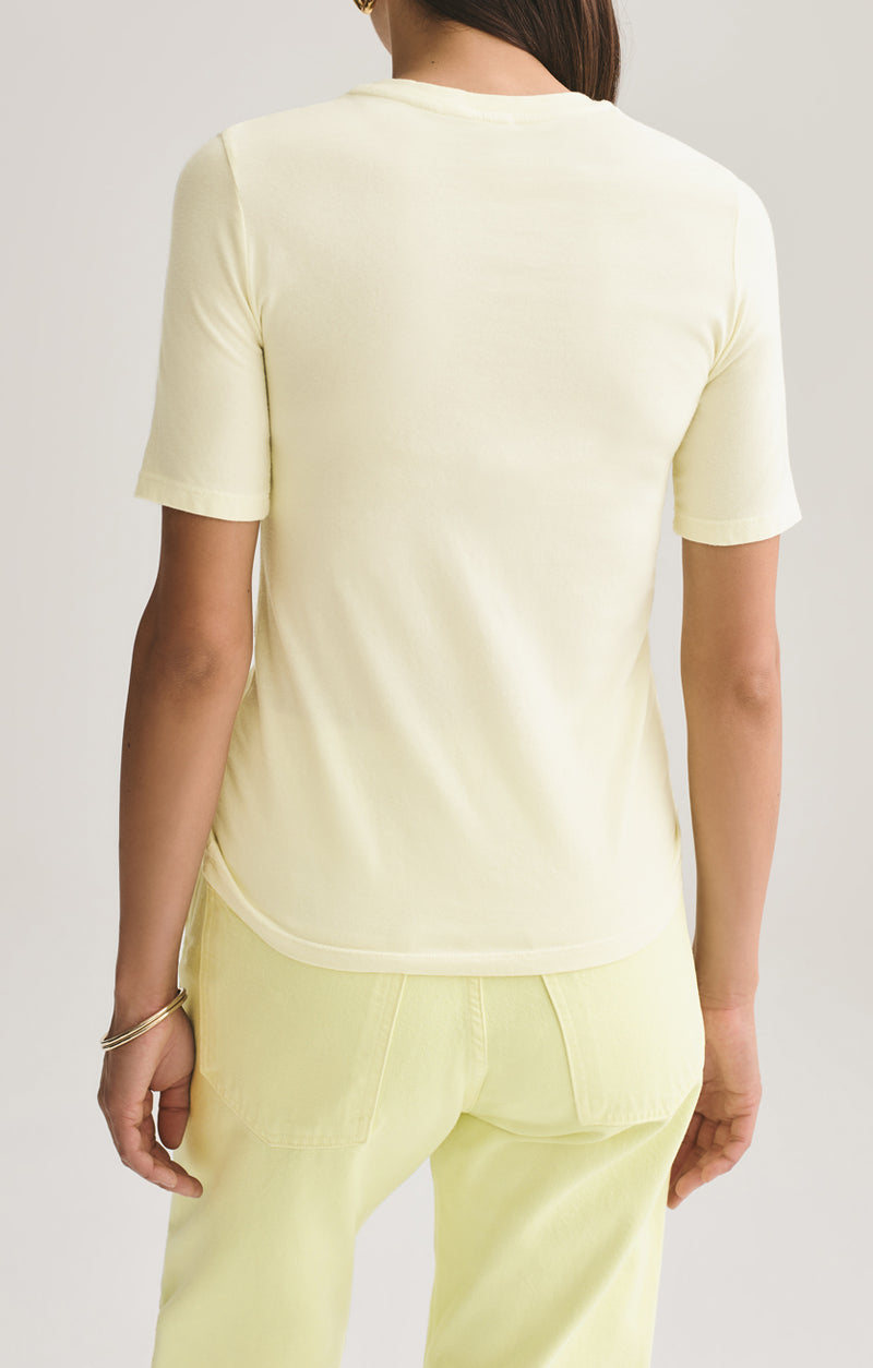 Elie Fitted Tee in Limoncello