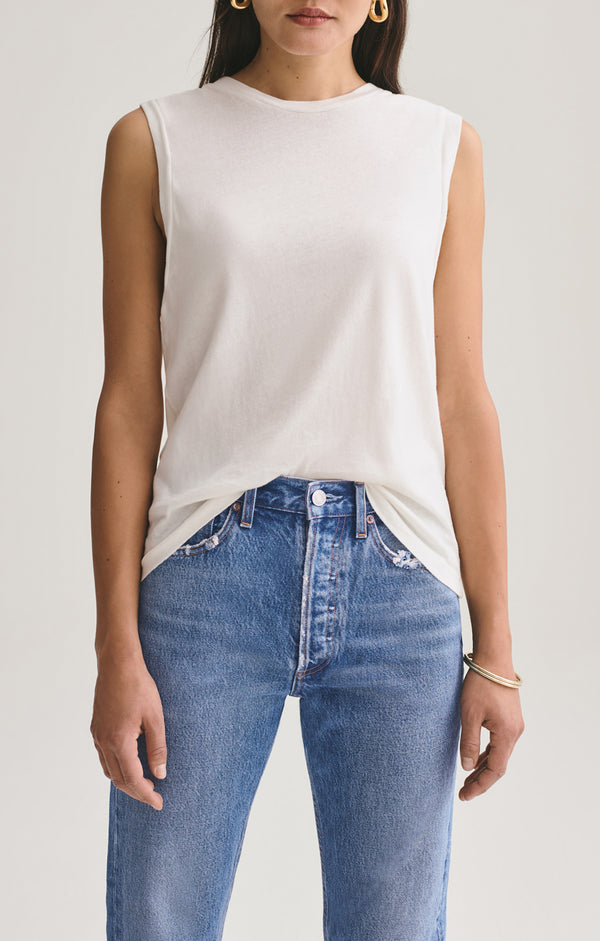 Ameenah Muscle Tee in Tissue