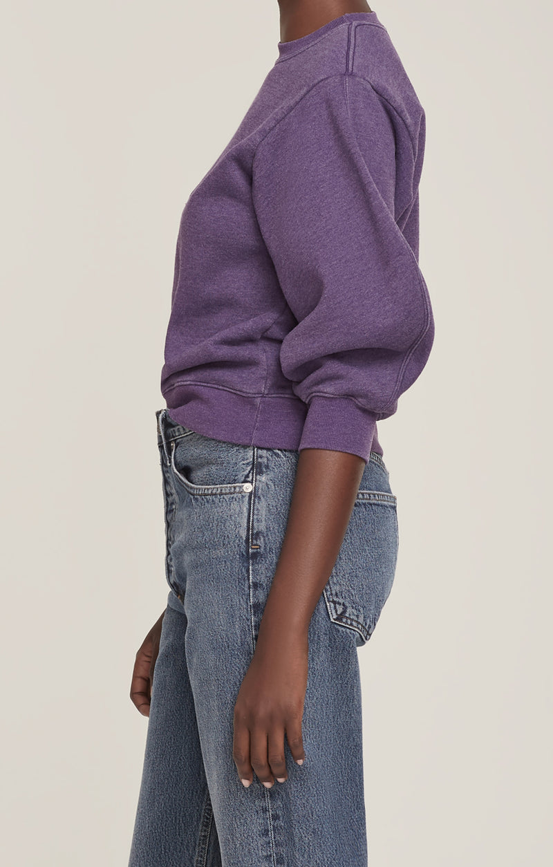 Thora 3/4 Sleeve Sweatshirt Grape Heather  side