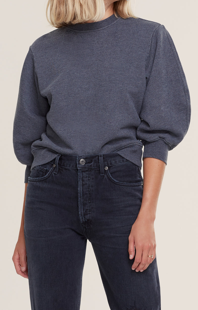 Thora 3/4 Sleeve Sweatshirt  Graphite Heather front