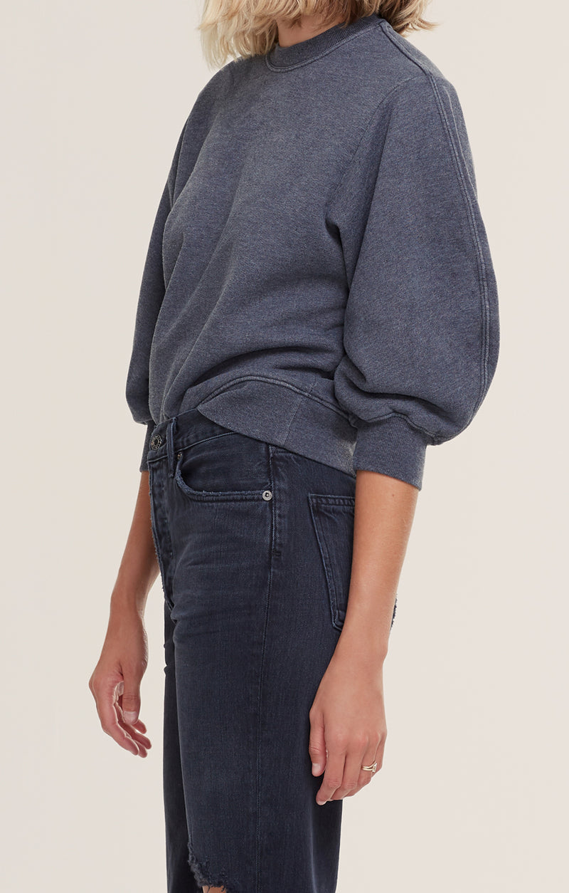 Thora 3/4 Sleeve Sweatshirt Graphite Heather