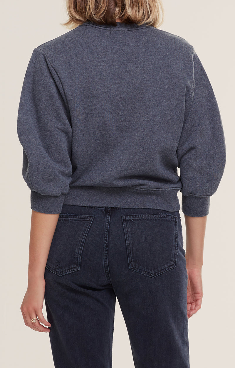 Thora 3/4 Sleeve Sweatshirt Graphite Heather back