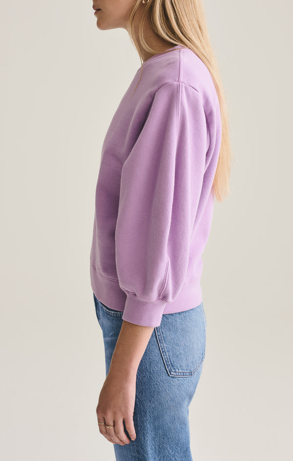 thora 3/4 sleeve sweatshirt lunar side
