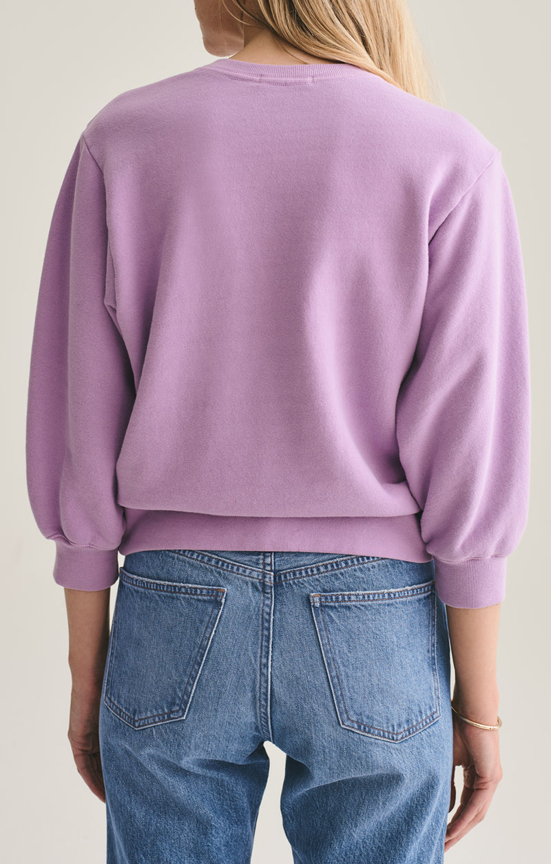 thora 3/4 sleeve sweatshirt lunar back