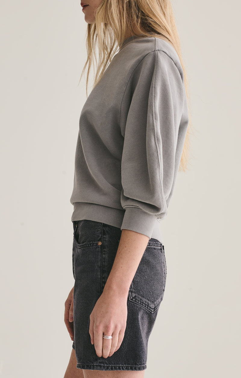 thora 3/4 sleeve sweatshirt zinc side