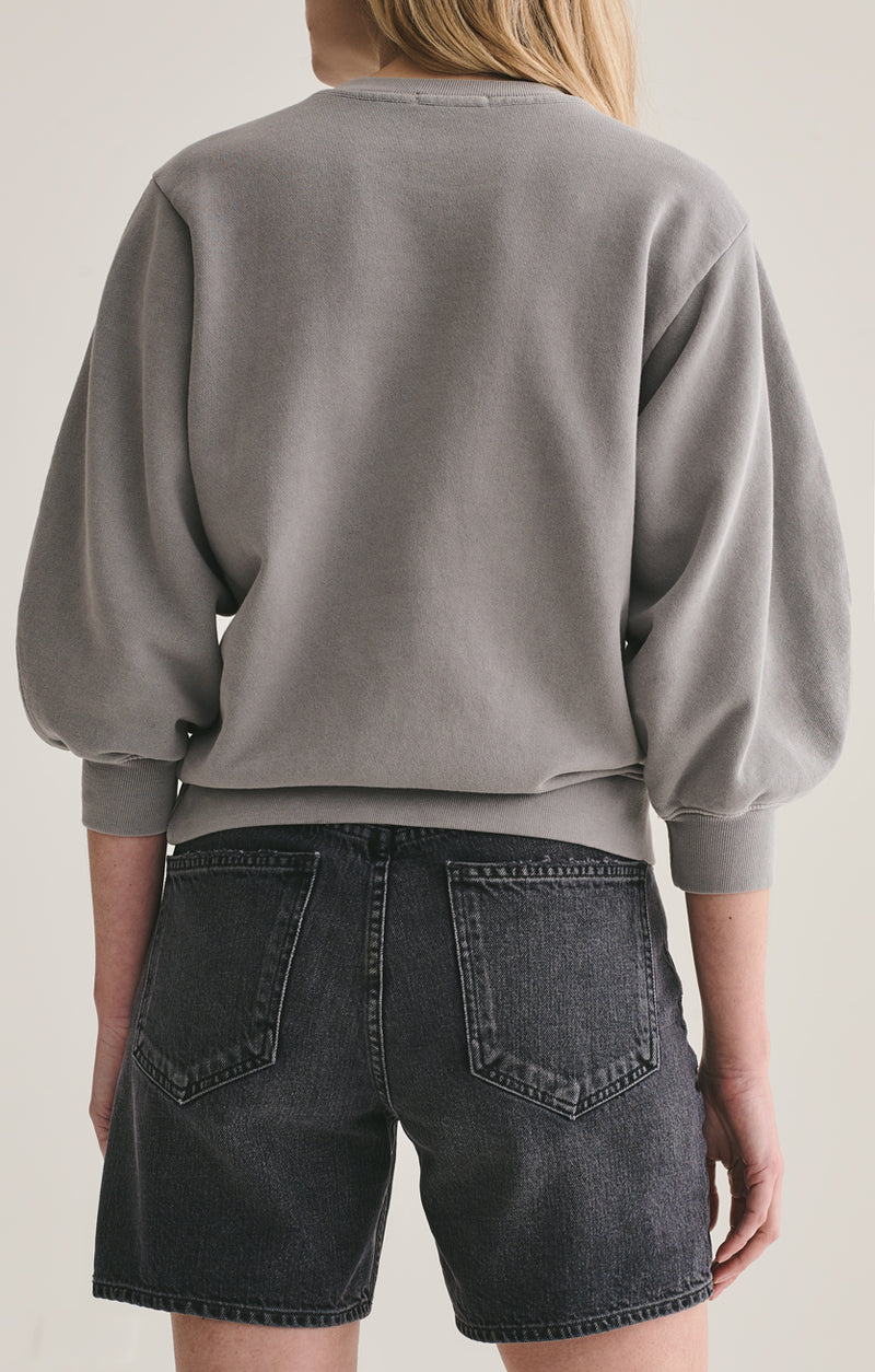 thora 3/4 sleeve sweatshirt zinc back