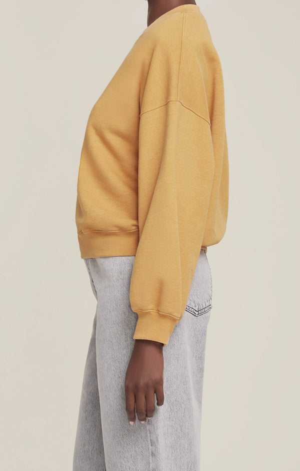 Balloon Sleeve Sweatshirt Turmeric Heather side