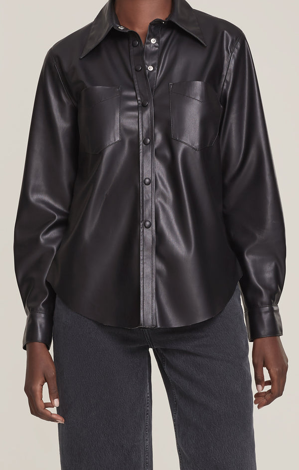 Paloma Vegan Leather Shirt Detox front