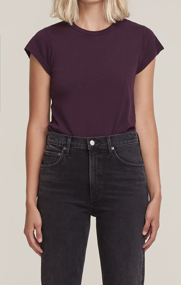 Irina Cap Sleeve Body Suit Raisin front