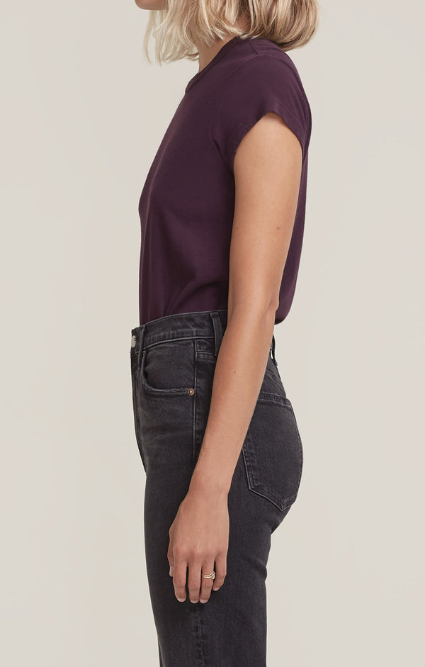 Irina Cap Sleeve Body Suit Raisin side