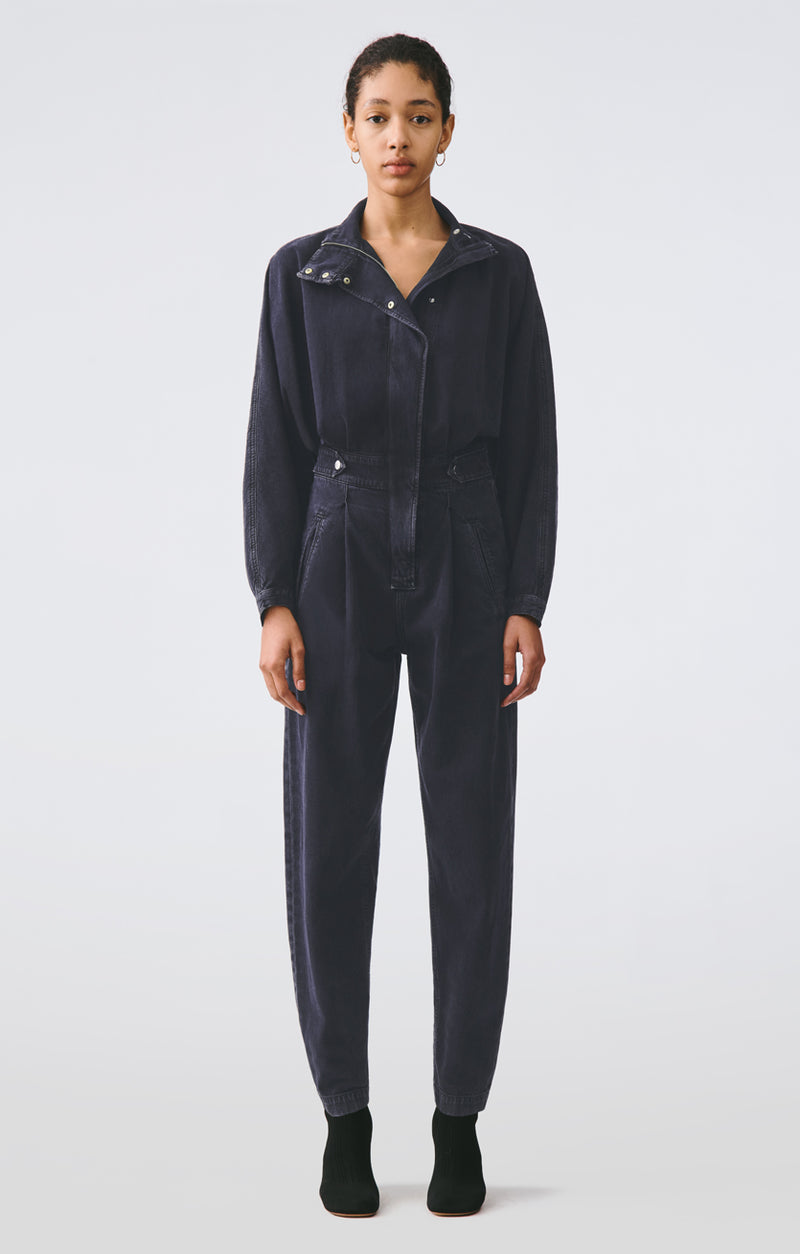 Ina High Collar Jumpsuit in Outcast