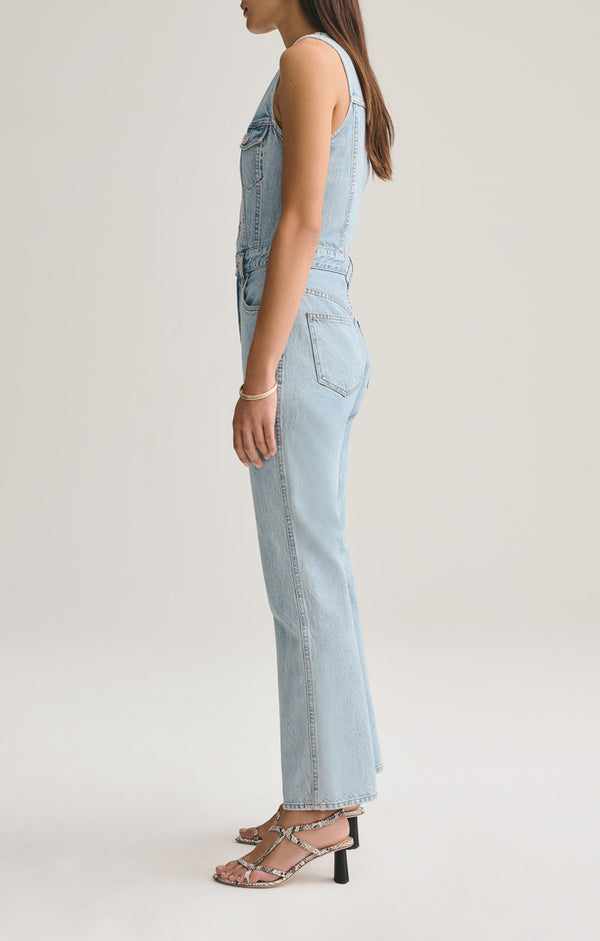 70's Fitted Vest Jumpsuit in Westward