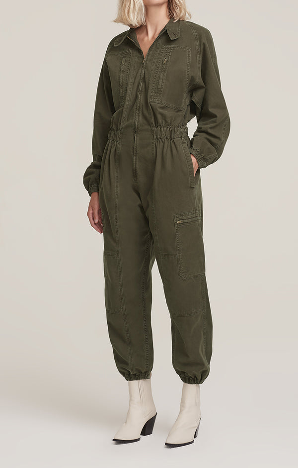 Marin Flight Suit Eucalyptus front