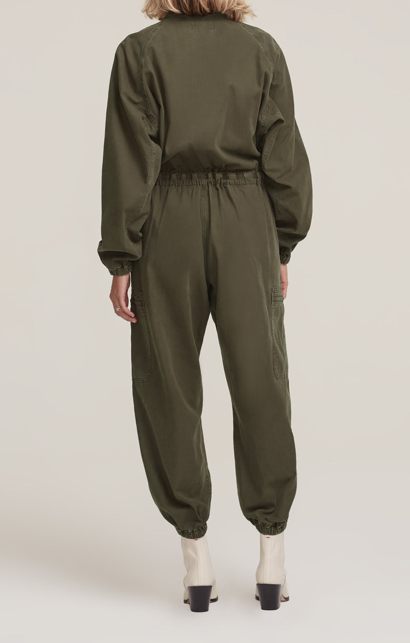 Marin Flight Suit Eucalyptus back